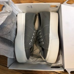 Superga grey platform sneakers 6